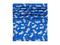 Multifunktionstuch Einhorn blau