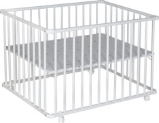 Laufgitter BASIC 75x100cm, weiß, Folie Sternchen grau