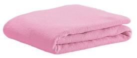 Frottee-Spannbetttuch, soft pink