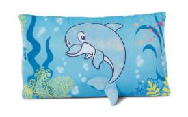 Kissen Delfin Del-Finchen rechteckig 43x25 cm
