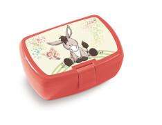 Brotdose, Esel und Schmetterling, 18x12,5x6,5cm