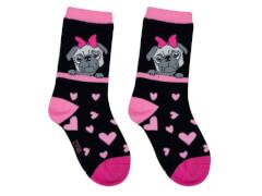 Sweety Socks Mops schwarz 27/30