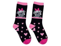 Sweety Socks Mops schwarz 31/34