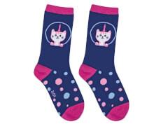 Sweety Socks Katze dunkelblau 31/34