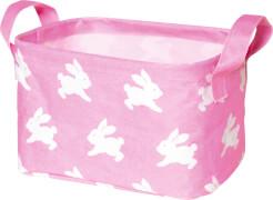 Kleine Aufbewahrungskorb BabyGlück, rosa (Häschen)