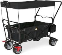 Klappbollerwagen Paxi dlx Comfort mit Bremse, schwarz