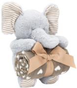Plüschtier Set Elefant mit Decke