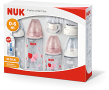 NUK First Choice PlusPerfect Start Set Girl mit Temperature Control