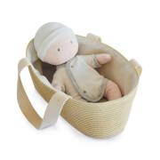 Doudou - Baby & Tragetasche weiss,grau 28cm
