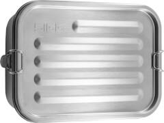 SIGG Edelstahl Lunch Box incl. Trenner aus Edelstahl, kein Kunststoff enthalten, robust, leicht
