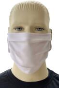 Mund-Nasen-Maske aus Baumwolle, weiß