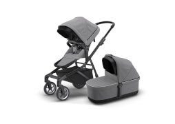 Thule Sleek + Bassinet - Grey Melange