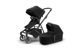 Thule Sleek + Bassinet - Black on Black
