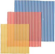 Nuts Innovations Bienenwachstuch Streifen quadr. 3tlg.