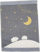 David Fussenegger - Baby-und Kinderdecke Mond+Schafe 65x90cm