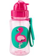 Zoo Kindertrinkflasche mit Strohhalm Flamingo