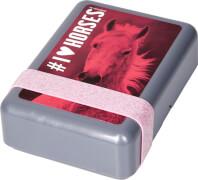 Butterbrotdose I LOVE HORSES, pink