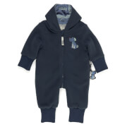 Sigikid Fleece Overall m.Klappb., Baby, blau, Gr.86