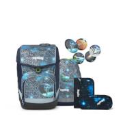 ergobag cubo Schulranzen-Set Bär Anhalter durch die Galaxis