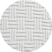 ALVI Strickdecke 100% Baumwolle großes Karo offwhite 75x100