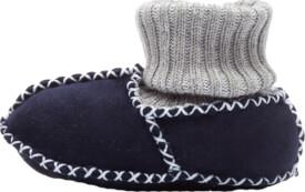 Fillikid Baby Lammfell Schuhe, marine, Gr. 21/22
