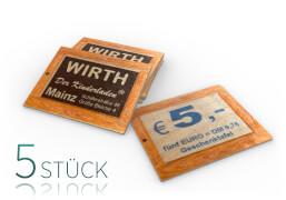 5x Gutschein-Täfelchen von A&E WiRTH Der Kinderladen