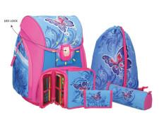 Spirit Schultaschenset Butterfly, 5tlg. mit LED-Schloss