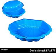 Sand/Wassermuschel Minisandy blau, Set mit 2 Stück